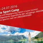 Euregio Sportcamp vom 17.-24. Juli 2016 in Mals im Vinschgau