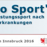 Sportmedizinisches Symposium Innsbruck 2016