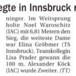 ATSVI Meeting und TM Stabhochsprung 14.8.2021 – Innsbruck USI