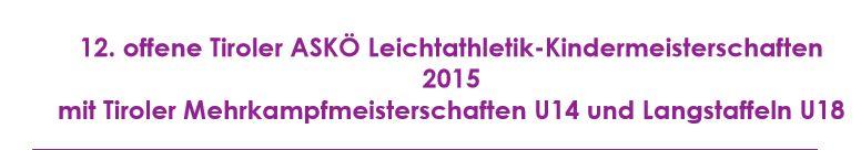 ASKÖ Kindermeisterschaften 2015